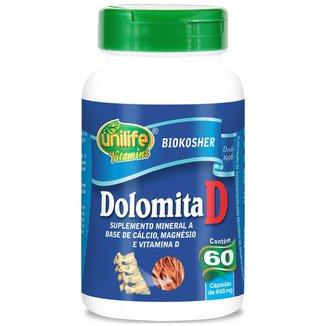 Dolomita D Cálcio Magnésio E Vitamina D 60 Cáps