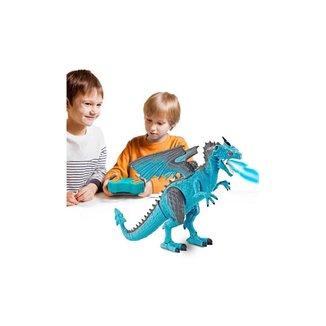 Dragão Com Controle Remoto Luzes E Som - Solta Bafo Com Vapor Real - Polibrinq
