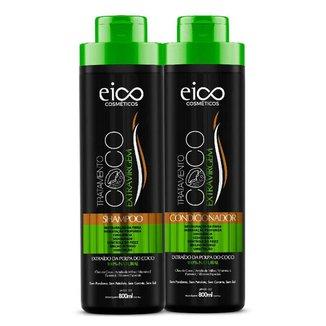 Eico Óleo de Coco Kit – Shampoo + Condicionador Kit