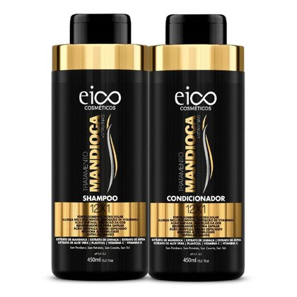 Eico Tratamento Mandioca Kit – Shampoo 450ml + Condicionador 450ml Kit