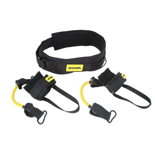 Elástico Para Saltos Vertical Jump Trainer Ziva - Preto+Amarelo