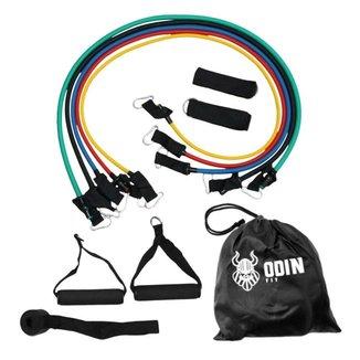Elásticos Extensores Treinamento Funcional Kit com 11 Peças   Odin Fit