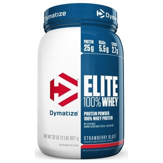 Elite 100% Whey Protein 2Lbs/907g Dymatize Nutrition