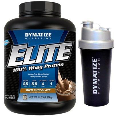 Elite Whey 5 Lbs + Coqueteleira - Dymatize Nutrition