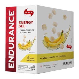 Endurance Energy Gel - 12 Sachês Banana - Vitafor