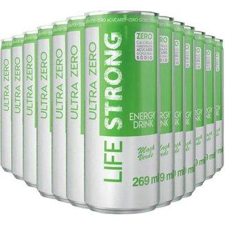 Energético Life Strong Energy Drink 12 unidades Maça Verde