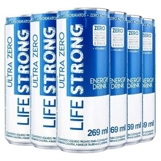 Energético Life Strong Energy Drink 6 unidades Tradicional