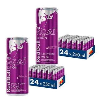 Energético Red Bull Energy Drink, Açaí, 250 ml ( 48 Latas )