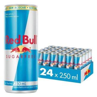 Energético Red Bull Energy Drink Sem Açúcar 250 ml - 24 Unids.