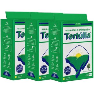 Erva-Mate de qualidade para Chimarrão Embalagem a Vácuo 1kg Kit com 3