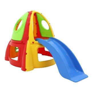 Escorregador Infantil Foguete Colorido 206x121 Bel