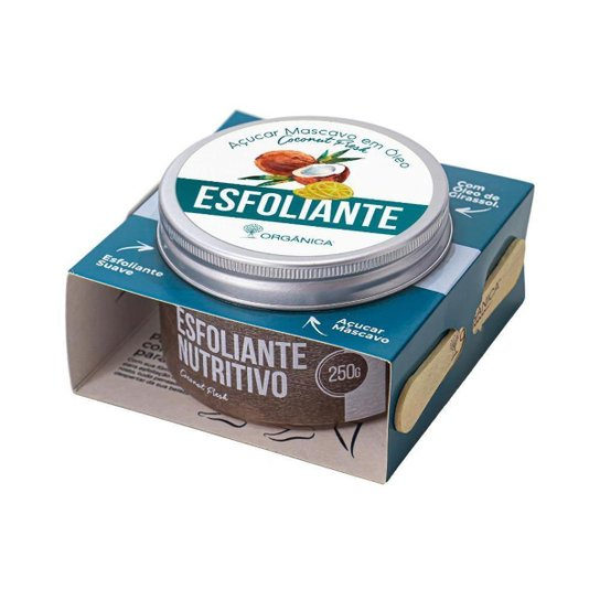 Esfoliante Nutritivo Coconut Fresh Vegano 250g Orgânica -