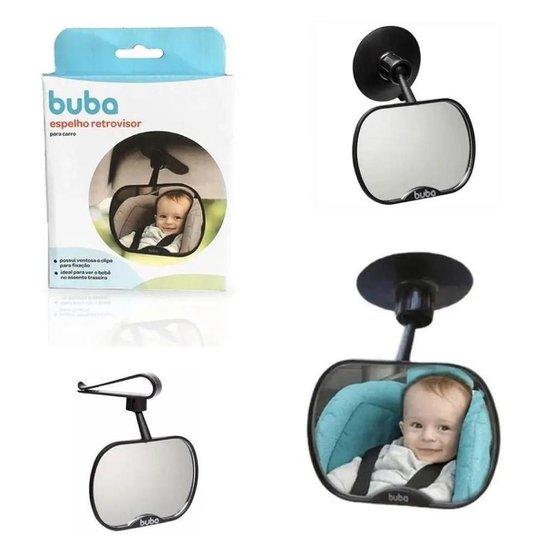 Espelho Retrovisor infantil para Carro Buba - Preto