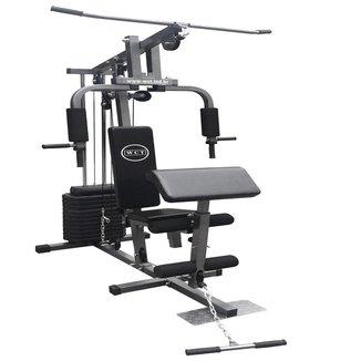 Estação De Musculação WCT Fitness 80kg + Puxador triceps corda