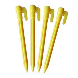 Estacas De Plástico Para Barraca 15Cm - 6 Pç Amarelo
