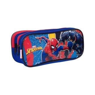 Estojo 2 Compartimentos Spiderman 19M Plus Infantil Sestini