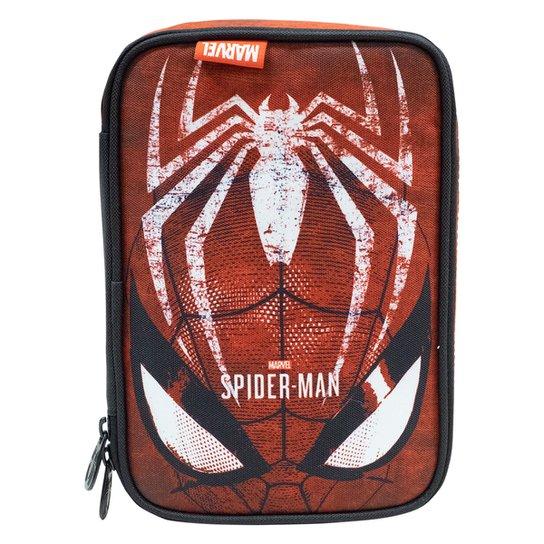 Estojo Escolar Xeryus Homem Aranha Masculino - Vermelho