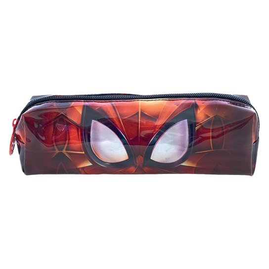 Estojo Simples Xeryus PVC Spider Man Masked Masculino - Vermelho