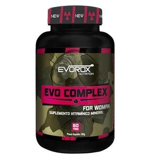 Evo Complex Woman Multivitamínico  Evorox Nutrition 60 Tabletes