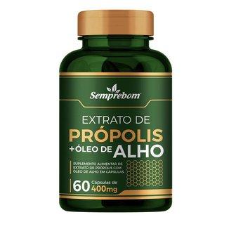 Extrato De Propolis Oleo De Alho Semprebom 400 Mg 60 Capsulas
