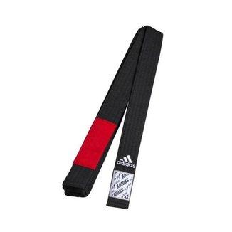 Faixa de Jiu-Jitsu Belt Adidas - Preta Ponta Vermelha