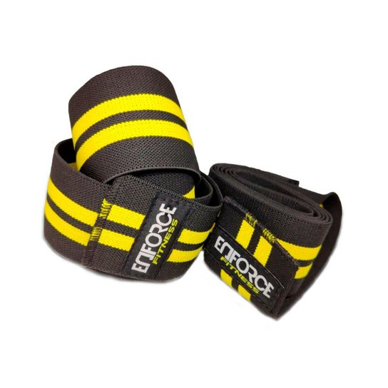 Faixa Elástica de Joelho para Musculação- Enforce Fitness - Amarelo