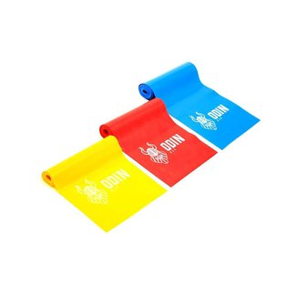Faixa Elástica Kit Com 3 Intensidades Tipo Thera Band Odin Fit