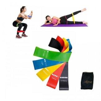 Faixa Elástica Miniband Academia em Casa Elástico de Tensão Exercícios Fitness Yoga