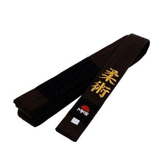 Faixa Jiu Jitsu MKS Marrom Bordada com ponta