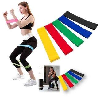 Faixas Elasticas 5 Intensidades Academia Treino Pilates Yoga