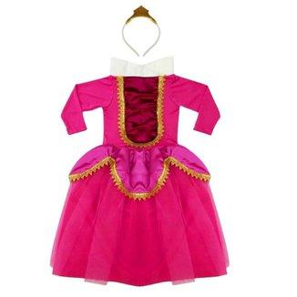 Fantasia Infantil Feminina Douvelin Princesa com Tiara