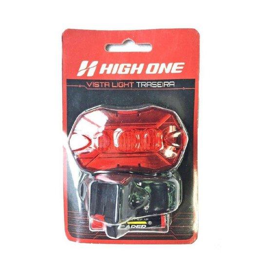 Farol High One traseiro 5 leds 50 lumens - Preto+Vermelho