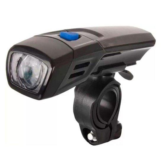 Farol Lanterna Dianteira Para Bicicleta Bike - Preto