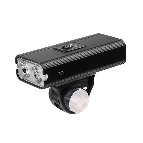 Farol Lanterna para Bike Bicicleta 6 Modos com Função Carregador Portátil USB À Prova D'Água - Preto