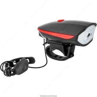 Farol para bicicleta buzina Sinalizador led bike segurança