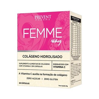 Femme Way Colágeno Hidrolisado c/60 Cápsulas Prevent