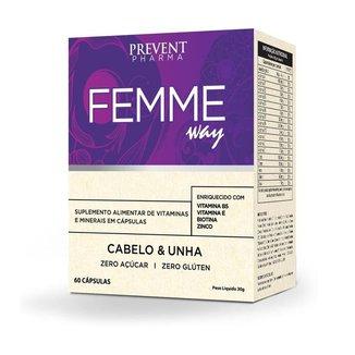 Femme Way Multivitamínico Cabelo e Unha 60Cáp Prevent Pharma