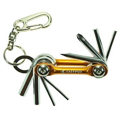 Ferramenta Canivete Calypso Chaveiro 8 Funções - Unissex - Prata