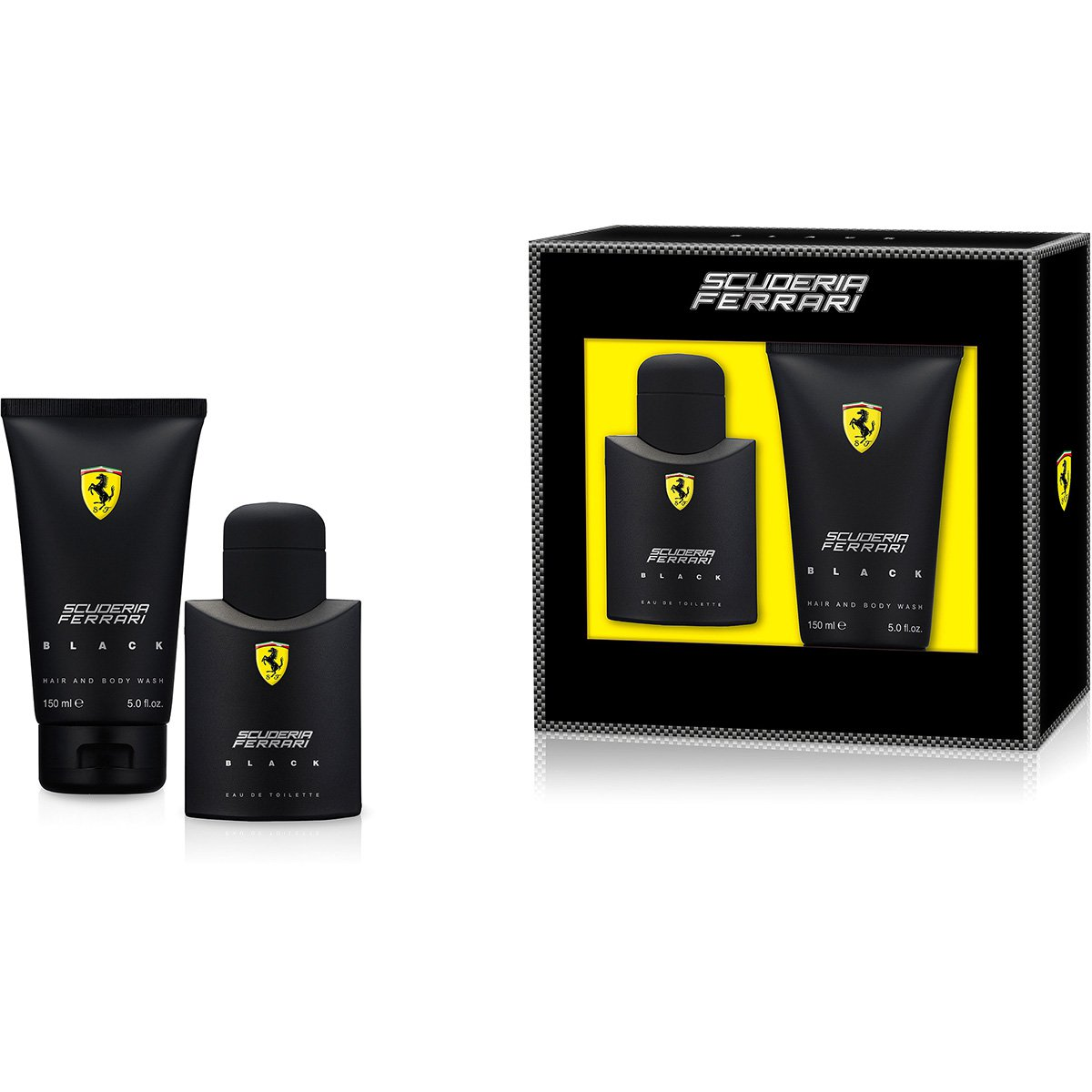 85b17d3e9 Ferrari Kit Perfume Masculino Black EDT 75ml + Shower Gel 150ml - Compre  Agora