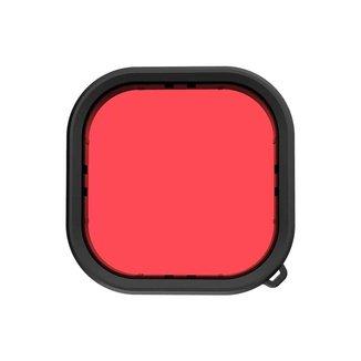 Filtro de Mergulho Vermelho para Caixa Estanque GoPro Hero 9 Black - Telesin