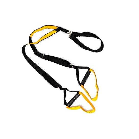 Fita de Suspensão TRX para Treinamento Suspenso Amarelo Natural Fitness - Preto+Amarelo