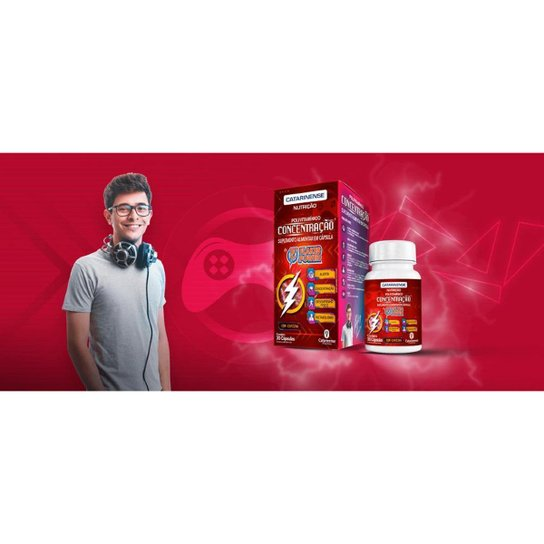 Flakes Power Concentração 2x 30 cápsulas Catarinense - Vermelho