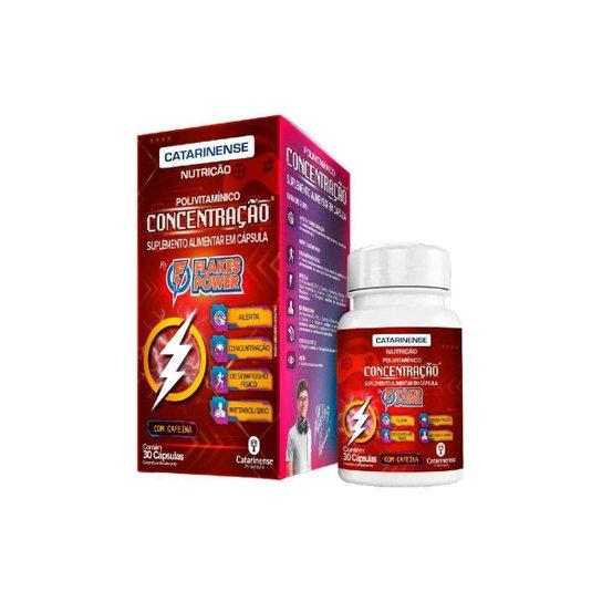Flakes Power Concentração 30caps Catarinense - Vermelho