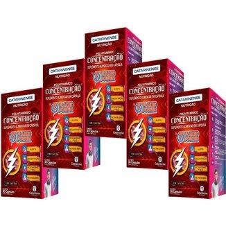 Flakes Power Concentração 5x 30 cápsulas Catarinense