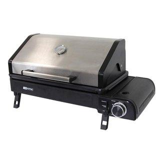 Fogareiro e churrasqueira NTK Aramis 3 em 1 compatível com cartuchos e botijões de gás Unica