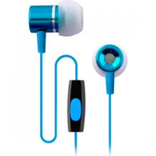 Fone Coby De Ouvido Cvem89 Tipo Earphone Com Microfone Jammerz Talk - Azul