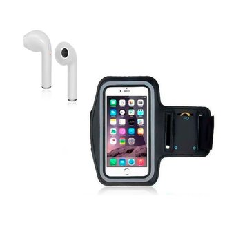 Fone De Ouvido Bluetooth I7 Mini + Capa De Braço