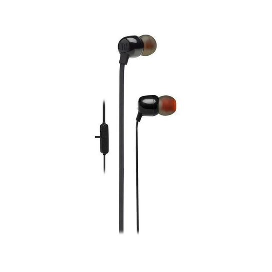 Fone de Ouvido Bluetooth JBL T115BTBLK Intra-auricular com Microfone - Preto