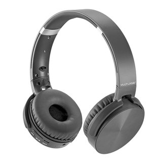 Fone de Ouvido Bluetooth Multilaser Premium PH264 - com Rádio FM - Entrada Micro SD - Preto