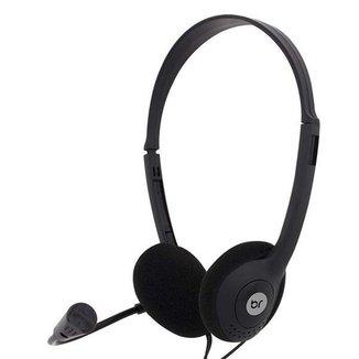 Fone De Ouvido Com Fio Headset Office Com Microfone Flexível P2 10 Bright